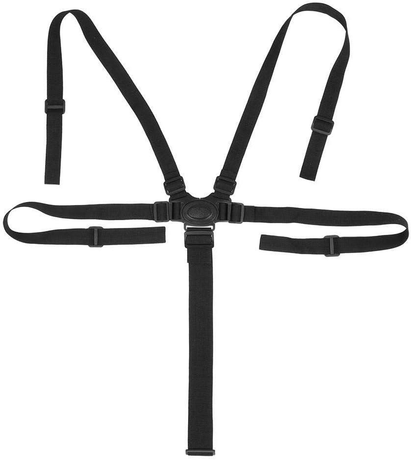 Cinturón de arnés universal para bebé de 5 puntos con arnés de seguridad para silla de paseo, protección giratoria, correa ajustable para el hombro, correas cruzadas para cochecito de bebé Buckle Type