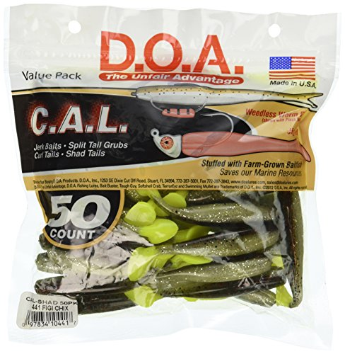 - DOA Cal Shad Tail 3 1/2-Inch Figi Chicken Bait (50-Pack)