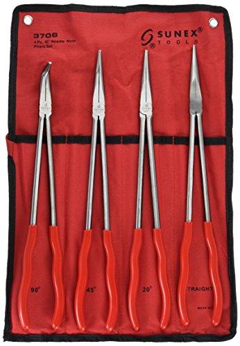 Price comparison product image Sunex 3706 16-Inch Needle Nose Pliers Set,  4-Piece