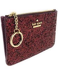 Laurel Way Bitsy Card Case Wallet Key Ring Glitter Deep Plum
