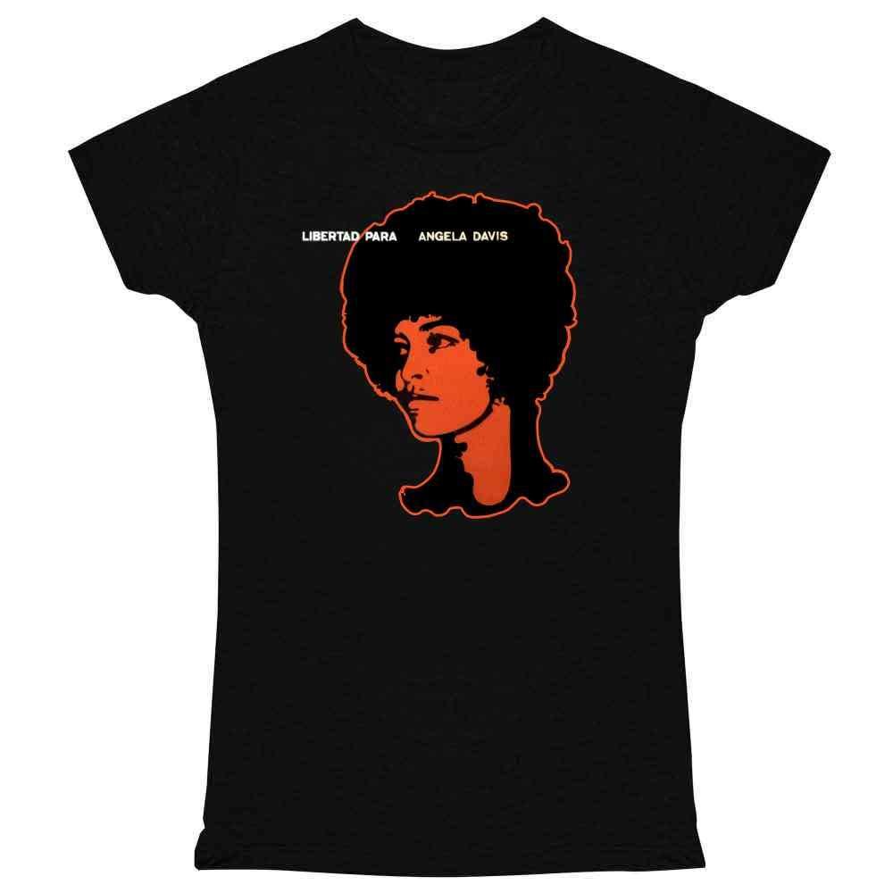 Free Angela Davis Libertad Para Retro Vintage Graphic For Women Shirts