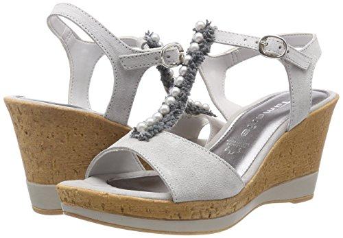 Tamaris Damer 28378 Sandaler T-grå-slides (lysegrå) SRZV5yKfkE