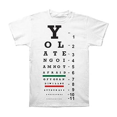 Amazon Yo La Tengo Mens Eye Chart T Shirt White Clothing