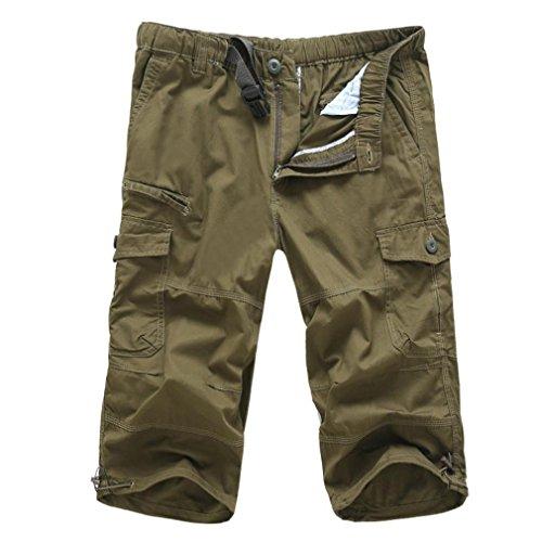 cintura Pantalones con cortos Temporada hombres m de Pantalones redondos de Adeshop verano suelta para 8XxqH