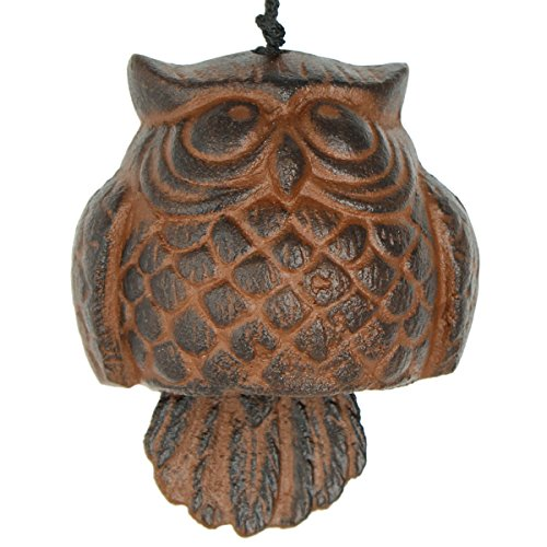 l Habitats Owl Windbell, Antique Rust ()