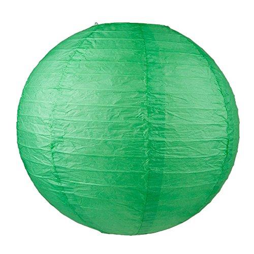 "WYZworks Round Paper Lantern 6-Pack (Dark Green, 12"") - Wedding Decoration Party Chinese Festival Lamp Shades Fiesta"