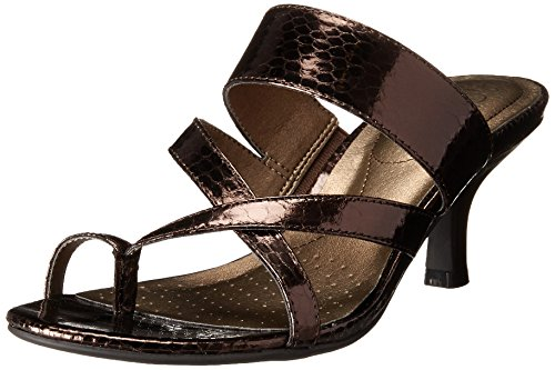 Women's bronze dress sandals