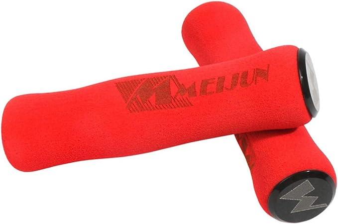 rojo Tapones de manillar para bicicleta de monta/ña de Vorcool 1 par