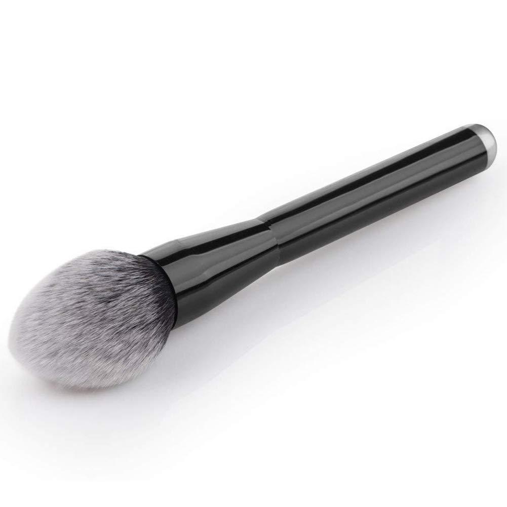 Isuper Belleza Loose Powder Brush mango de metal grande de cepillo del maquillaje multifunci/ón llama /ángulo Fundaci/ón Brush-Negro