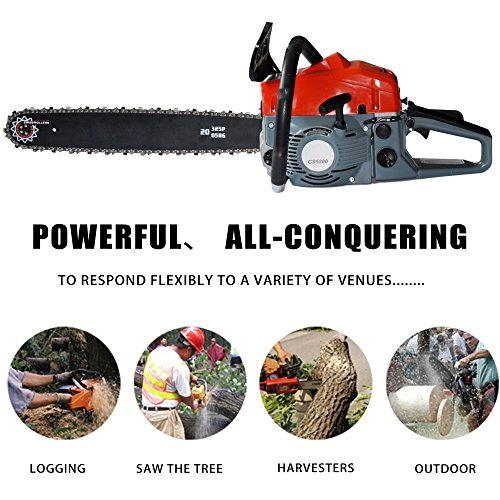 Etuoji 2 Stroke 52cc 20inch Saw Blade Petrol Chainsaw Outdoor Garden Yard Use with Tool Kit by Etuoji