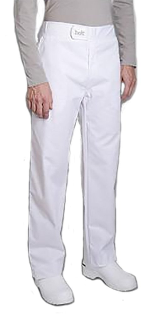 SIROCCO Mens Culinary Chef Pants Food Service Pants with I-Belt by Clement Design (T3 - US 34-36, White) by Clement Design