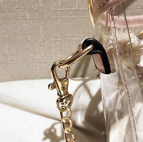 moda in taglia tracolla due a donna trasparente giallo misura pezzi Borsa spalla Nero Tote impermeabile colore unica a da avnYw