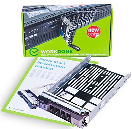 WORKDONE 3.5 inch Hard Drive Caddy Tray for Dell PowerEdge Servers - SAS SATA HDD Adapter Sled - Handle Busy Schedule - Easy Setup with Detailed Installation Manual - Your Saved Time is Priceless