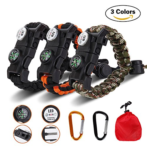 Survival Bracelet With Led Light