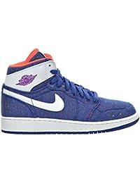 promo code 8b481 7d72a Air Jordan 1 Retro High GG Big kid s Shoes Deep Royal Blue White Purple  Dusk Hyper Orange 332148-411