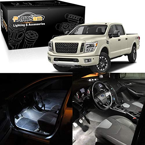 Partsam White Interior LED Light Package Kit Replacement Bulbs with Pry Bar Tool Compatible with 2009-2015 Dodge Ram 1500 2500 3500 (7 Pieces)