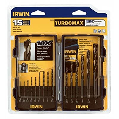 Irwin Industrial Tools 318015 TurboMax Turbo Point Drill Bit Set, 15-Piece