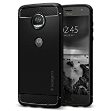 Moto Z2 Play Case, Spigen Rugged Armor - Resilient Shock Absorption and Carbon Fiber Design for Motorola Z2 Play (2017) - Black
