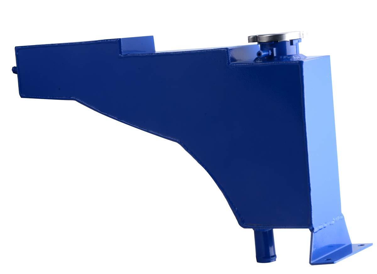 For Ford F250 F350 F450 Excursion 1999-2005 Aluminum Radiator Coolant Overflow Reservoir Tank Blue
