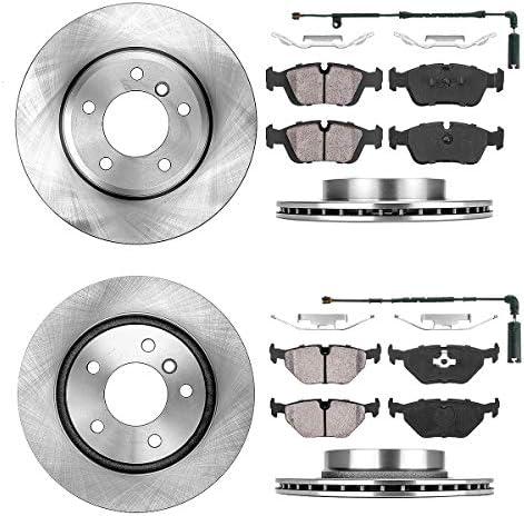 For BMW E46 330i 01-05 Front /& Rear Disc Brake Rotors /& Pads Kit Best Value