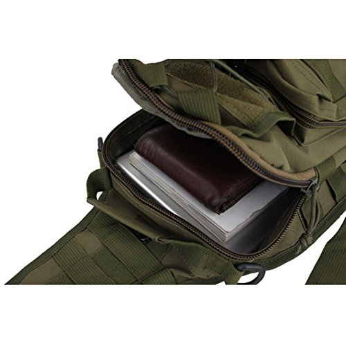 Crossbody Canvas Army Umhängetasche Schultertasche Bodybag Sling Bag Daypack Wander Tasche Fahrradrucksack Kuriertasche Schwarz Ja2sl