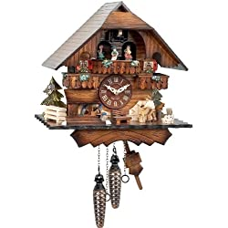 Alexander Taron 470QMT Engstler Battery-Operated Cuckoo Clock-Full Size-13 H x 12.25 W x 8 D, Brown