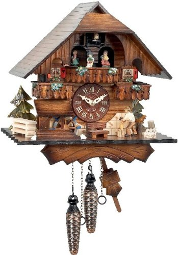 - Alexander Taron 470QMT Engstler Battery-Operated Cuckoo Clock-Full Size-13 H x 12.25