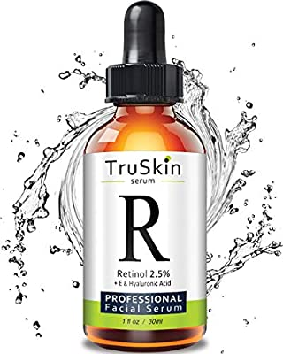 TruSkin RETINOL Serum for Wrinkles, Fine Lines, contains Vitamin A, E and Hyaluronic Acid, Organic Green Tea, Jojoba Oil, BEST Anti Wrinkle Facial Serum,1oz