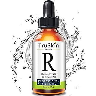 TruSkin RETINOL Serum for Wrinkles, Fine Lines, contains Vitamin A, E and Hyaluronic Acid, Organic Green Tea, Jojoba Oil, BEST Anti Wrinkle Facial Serum,1oz