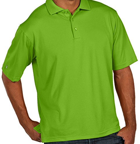 (Antigua Men's Pique Xtra Lite Polo Sea Green X-Large)