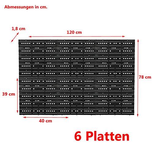 2 Platten fü r Wandregal Regal Regalplatte Lagerbox Werkstatt Lagerregal Regalsystem 4U-Onlinehandel