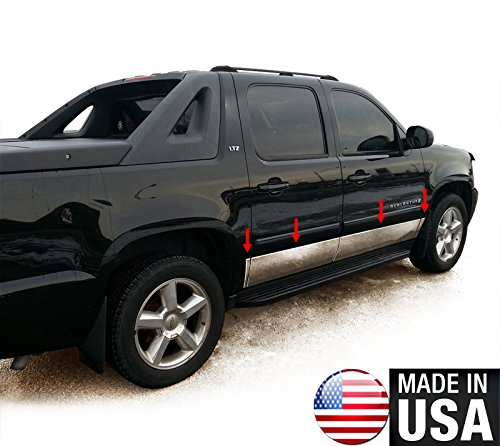 Made In USA! Works With 07-14 Chevy Avalanche/Suburban Rocker Panel Trim 9'' Wide 8PC