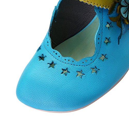 Gracosy Scarpe Da Donna, Scarpe Con Plateau, Scarpe Con Tacco In Pelle Sandali Con Zeppe Scarpe Con Tacchi Bule 2