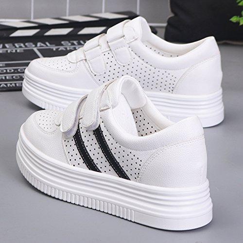 KPHY Sommer Hohl Weiblich Atmungsaktiv Vorstand Schuhen Freizeit Dicken Hintern Kuchen Boden Harajuku Joker Student Schuhe Schuhe.