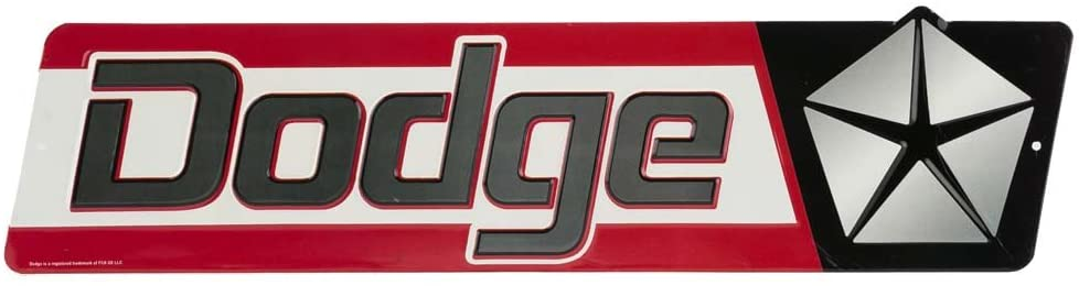 Open Road Brands Dodge Chrysler Embossed Metal Sign