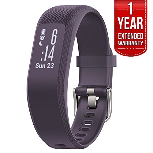 Garmin (010-01755-11) vivosmart 3 - Small/Medium, Purple With 1 Year Extended Warranty by Garmin