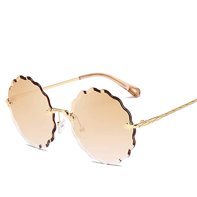 DURIAN MANGO Gafas de Sol Metal Wave Cut Edge Gafas de Sol ...