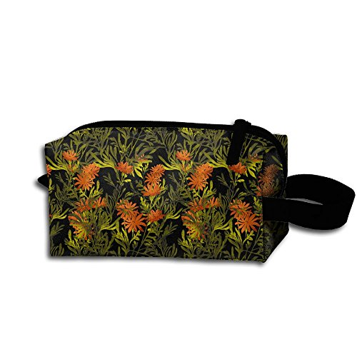Travel Toiletry Bag Watercolor Floral Flowers Tropical Palm