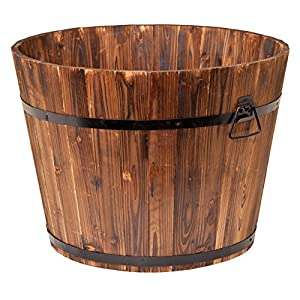 "Devault Enterprises 23"" x 17"" x 17"" Whiskey Barrel Planter, Large"