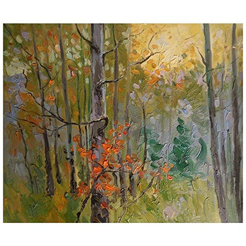 Legendarte, Pintura Al Oleo sobre Lienzo - Bosque Acogedor, cm 50x60