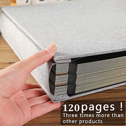 Photo Album Self Adhesive 13x12.8 inches for 600 Photos Magnetic Scrapbook 120 Pages