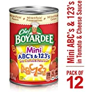 Chef Boyardee Mini ABC's and 123's, 15 oz, 12 Pack
