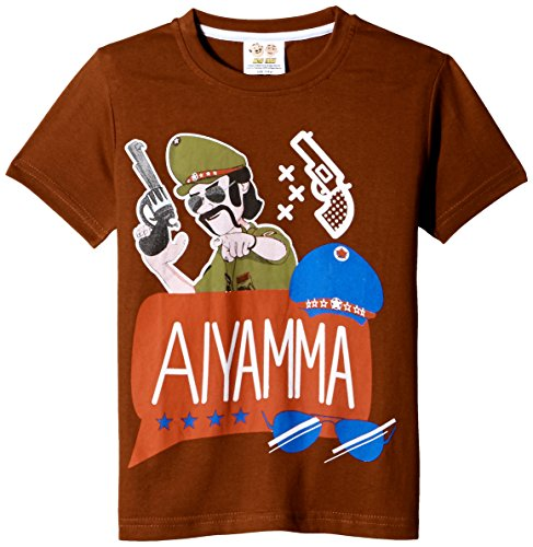 Motu Patlu Boys' T-Shirt (HST-2100_Rust_2 - 3 years)