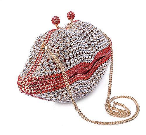 en KOKR Lèvre Dîner Diamants Fête Sacs Perles À Main Sacs Forme De De À xqpZXq6