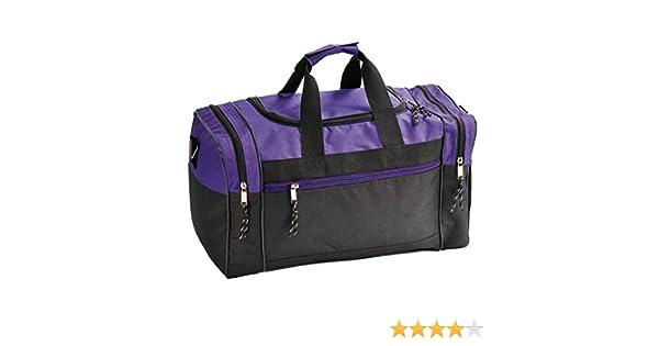 61c62108c0b6 Amazon.com  Buddha Bless U Art Duffle Bag Duffel Travel Size Sports Gym  Bags Workout Blank Carry-on Luggage Purple Black  Clothing