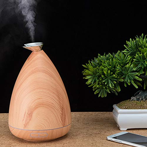 DMZing Wood Grain Air Aromatherapy Essential Oil Diffuser Aroma Humidifier Purifier B Cool Mist Humidifier for Bedroom, Baby, Home as - Rain Woodgrain Barrel