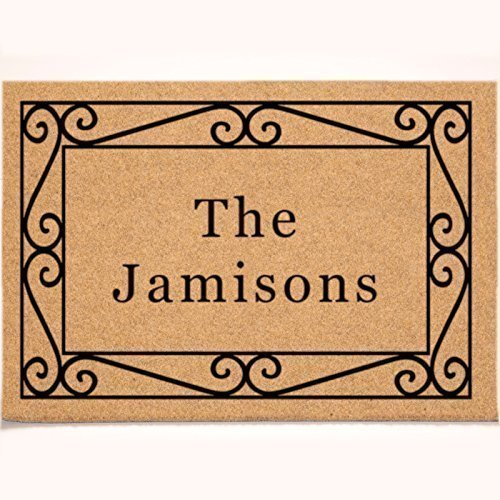 24 x 36 DuraCoir Doormat - Wrought Iron Border Personalized