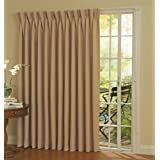 """Eclipse Thermal Blackout Patio Door Curtain Panel, 100"""" x 84"""" Wheat"""