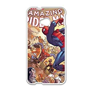 Durable Hard cover Customized TPU case spiderman HTC One M7 Cell Phone Case White