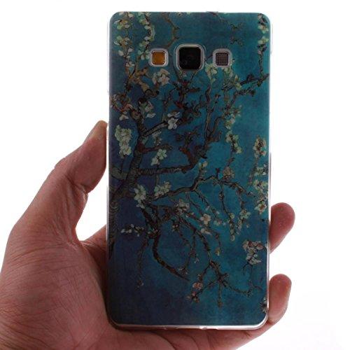 Funda Samsung Galaxy Core II (SM-G355H ),Carcasa Samsung Galaxy Core II (SM-G355H ), Elegante Alta Calidad TPU Suave Silicón Gel de Alta Resistencia y Flexibilidad Anti-arañazos y Antideslizante Choqu Flor del ciruelo